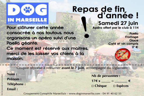REPAS CLUB CANIN MARSEILLE